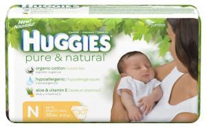 Pure and Natural Greenwashed Huggies